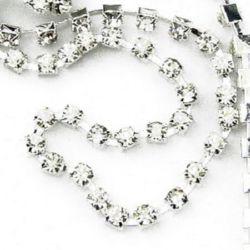 Lanț de strasuri, margele de sticlă, cusut, confecționarea bijuteriilor, grad A 3 mm x 1 m