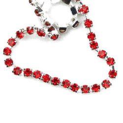 Lanț de strasuri, margele de sticlă, cusut, confecționarea bijuteriilor, gradul roșu -3,3mm -1 metru