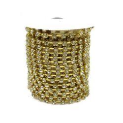 Lanț de stras, margele de sticlă, cusut, confecționarea bijuteriilor, grad A 3,3 mm x 1 m