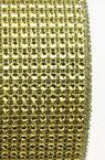 Лента 12 см мрежа имитация камъчета цвят злато -1 метър