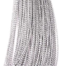 Braided Metallic Cord, Jewelry Making, DIY 0.8 mm silver -100 meters