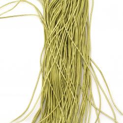 Ламе плетено 2 мм цвят злато ~100 метра