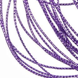 Braided Metallic Cord, Jewelry Making, Gift Wrapping 0.8 mm light purple -100 meters