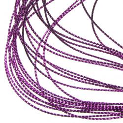 Braided Metallic Cord, Jewelry Making, Gift Wrapping 0.8 mm dark purple -100 meters
