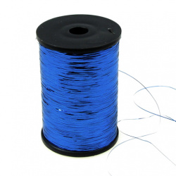 Metallic Cord thin blue -50gr.