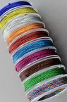 Braided Metallic Cord, Gift Wrap Craft String 1 mm ASORTED Colors ~ 10 meters
