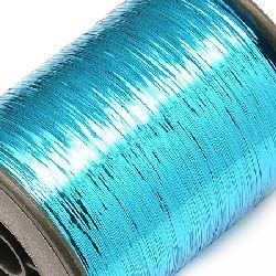 Braided Metallic Cord, Jewelry Making, DIY  0.28 mm blue light -90 grams ~ 8000 m