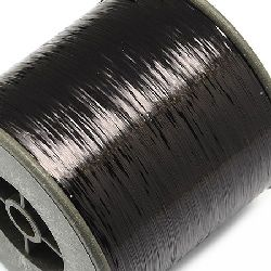 Braided Metallic Cord, Jewelry Making, DIY  0.28 mm black -90 grams ~ 8000 m