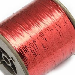 Braided Metallic Cord, Jewelry Making, DIY 0.28 mm red -90 grams ~ 8000 m