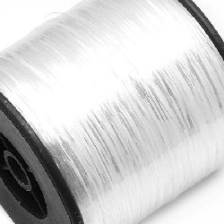 Braided Metallic Cord, Jewelry Making, DIY 0.28 mm silver -90 grams ~ 8000 m