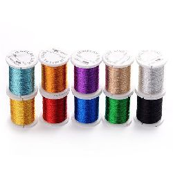 Knitted Metallic Cord, Jewelry Making, DIY 0.2 mm Mix~ 17 meters