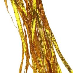 Ламе плетено 3 мм плоско злато -330 метра