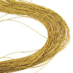 Braided Metallic Cord, Gift Wrap Craft String 1mm gold -100m