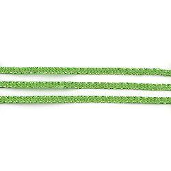 Ламе плетено 3 мм плоско зелено ~100 метра