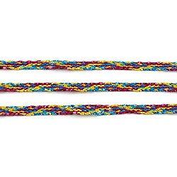 Ламе плетено 3 мм плоско цветно ~100 метра