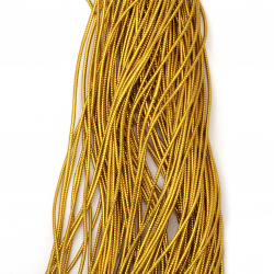 Braided Metallic Cord, Gift Wrap Craft String 2 mm color gold dark ~ 100 meters