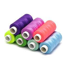 Polyester Thread 0.2mm Assorted Colors Rolls ~ 360 meters