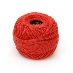 Cotton Thread, Jewelry Making, Art  red -10 grams ~ 85 meters