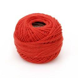 Конец памук №8 червен -10 грама ~85 метра