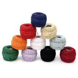 Cotton Thread, Jewelry Making, Art №8 ASSORTED -10 grams ~ 85 meters