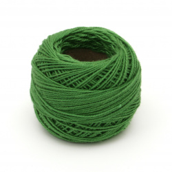 Cotton Thread, Jewelry Making, Art  end №8 green -10 grams ~ 85 meters