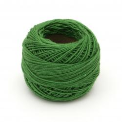 Конец памук №8 зелен -10 грама ~85 метра