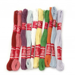 Cotton Thread, Jewelry Making, Art   end 1 mm 2 kata ASSORTED ~ 8 meters