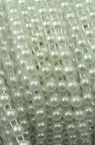Plastic Imitation Pearl Ribbon 4 mm white -1 meter