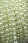 Plastic Imitation Pearl Ribbon 4 mm hemisphere cream  - 1 meter