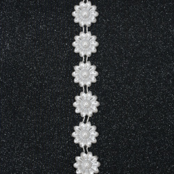 Braid pearl ,Wedding decoracion 22 mm white -1 meter