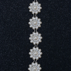 Braid pearl ,Wedding decoracion 22 mm cream color -1 meter