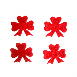 Triple ribbon 30 mm red -50 pieces