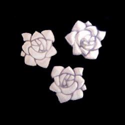 Trandafir 20 mm alb -50 bucăți