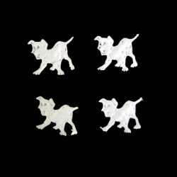 Куче далматинец 23 мм бяло -50 броя