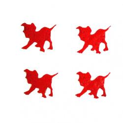 Куче далматинец 23 мм червено -50 броя
