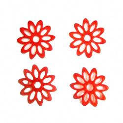 Маргаритка 10листа рязани 35 мм червена -50 броя