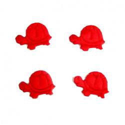 Костенурка 20 мм червена -50 броя