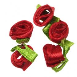 Trandafir 8 mm cu roșu frunze -50 bucăți