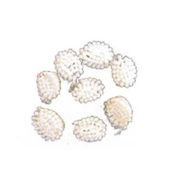 Little Hats for Decoration  10 mm white -50 pieces