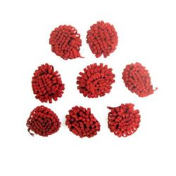 Little Hats for Decoration Red 15 mm, 50 pcs