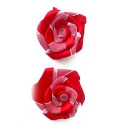 Satin rose for decoration 50 mm