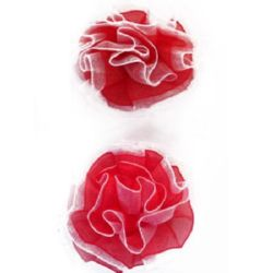 Organza rose for decoration 45 mm - 10 pieces