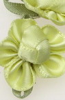Flower 20x28 mm with a leaf yellow light -10 pieces