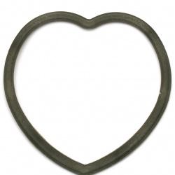 Сърце пластмаса 22x22.5 см за декорация