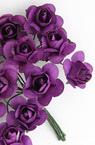 Τριαντάφυλλα 20mm μωβ σκούρο - 12 τεμάχια