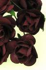 Роза букет хартия и тел 20 мм бордо -12 броя