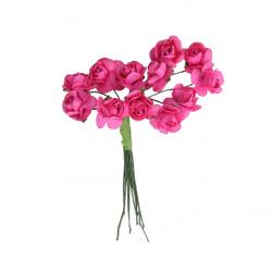 Τριαντάφυλλο 15mm ροζ -12 τεμαχία