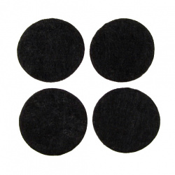 Feltru rotund 25x1 mm negru -20 bucăți