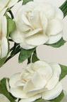Buchet de trandafir de hârtie și sârmă de 18 mm alb -12 bucăți