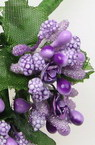 Bouquet of paper with wire stems 80 mm purple - 12 pieces